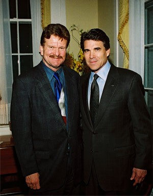 Mickey Redwine with Gov. Perry
